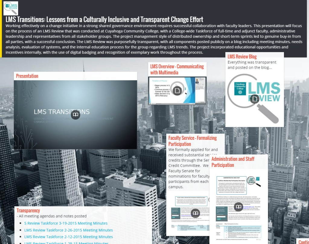 Padlet screenshot for LMS Review