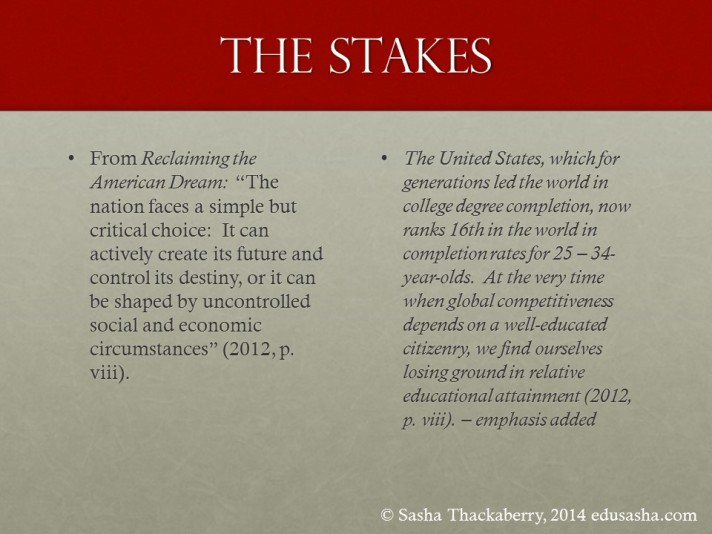 Conclusion - The Stakes