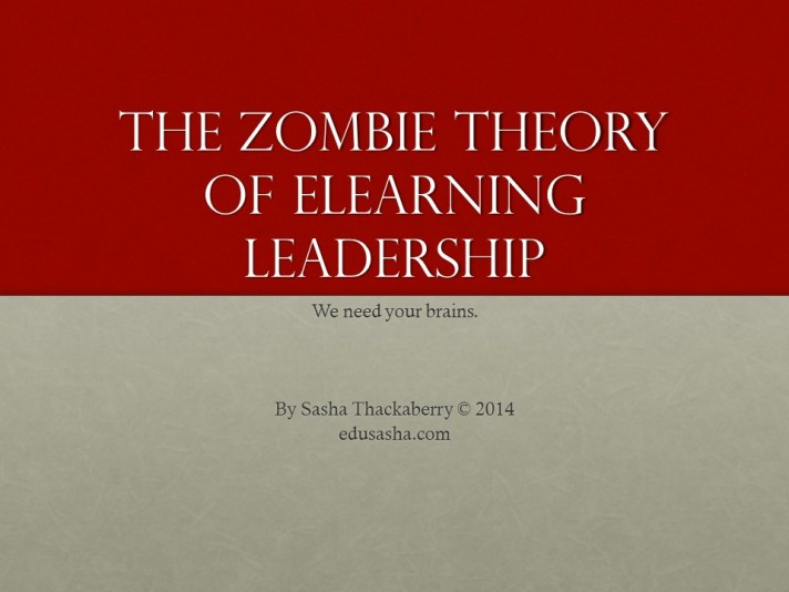 Opening Slide - Zombie Theory of eLearning Leadership